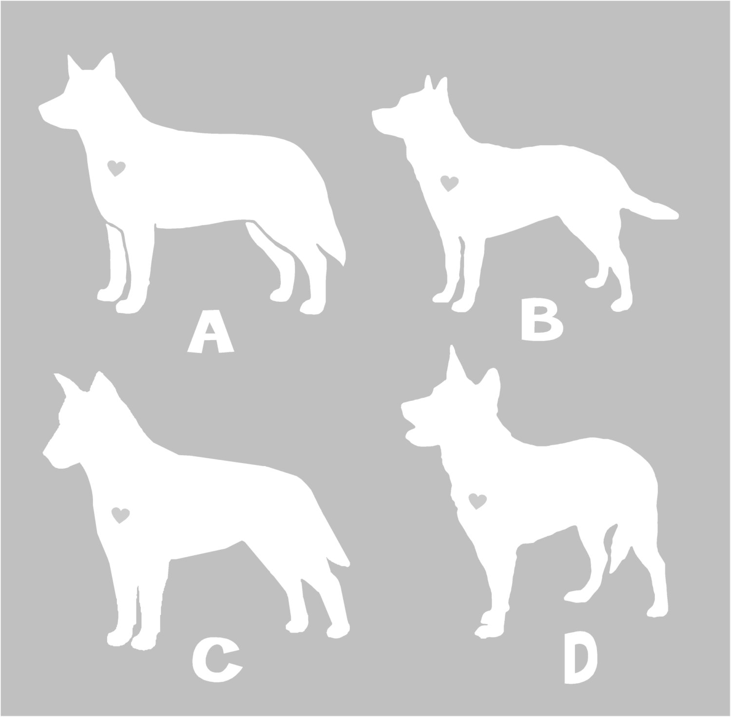 Australian Cattle Dog Silhouette Vinyl Sticker Car Decal - Custom car decals australia   how to personalize