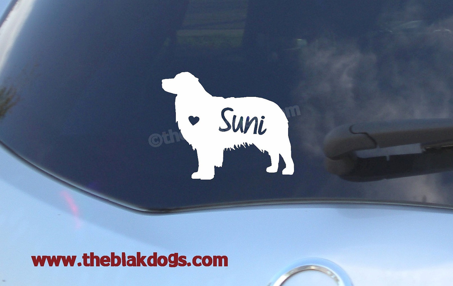 Australian Shepherd Silhouette Vinyl Sticker Personalized Car - Custom car decals australia   how to personalize