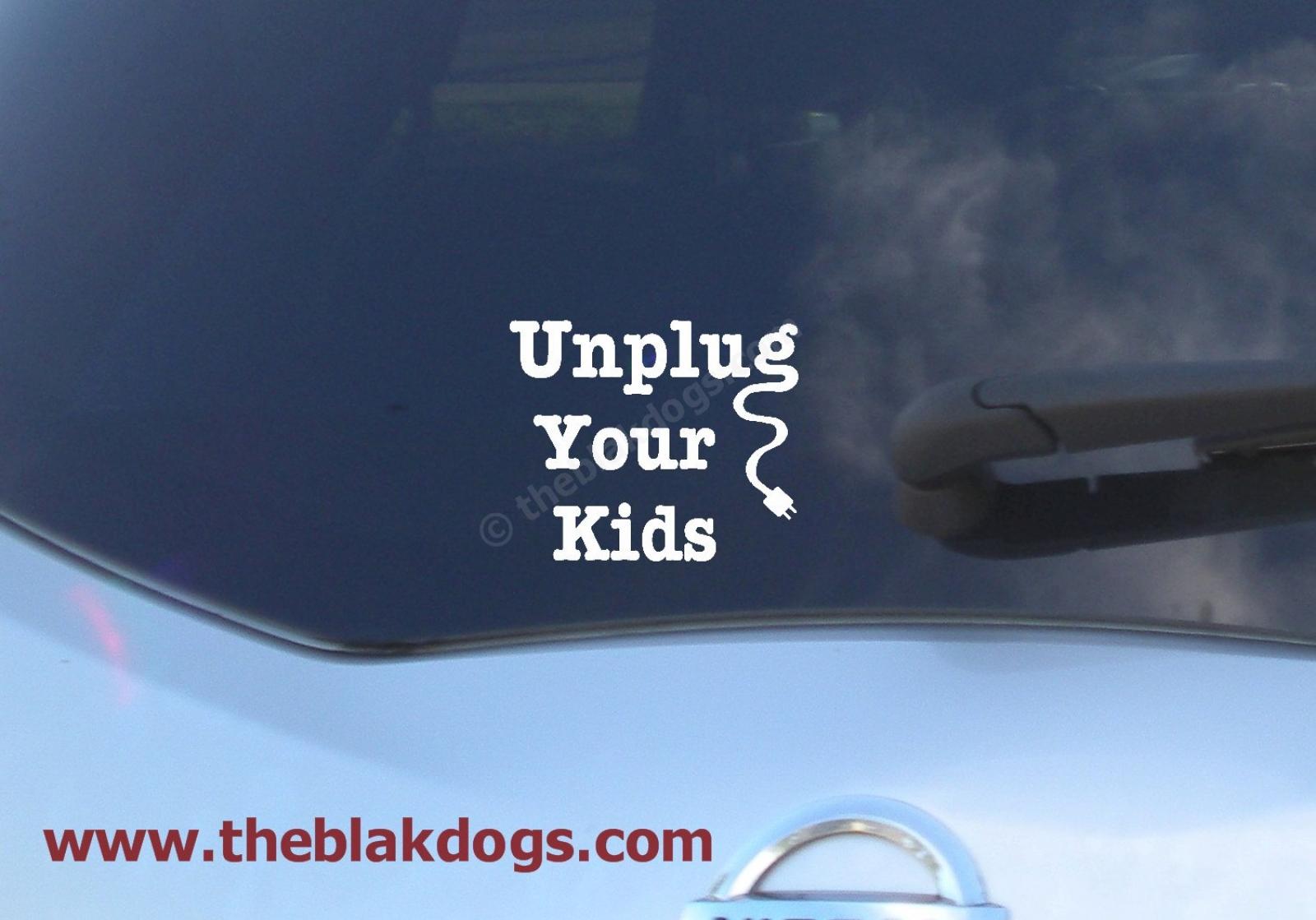Car decal homeschool sticker kids unplugged zoom