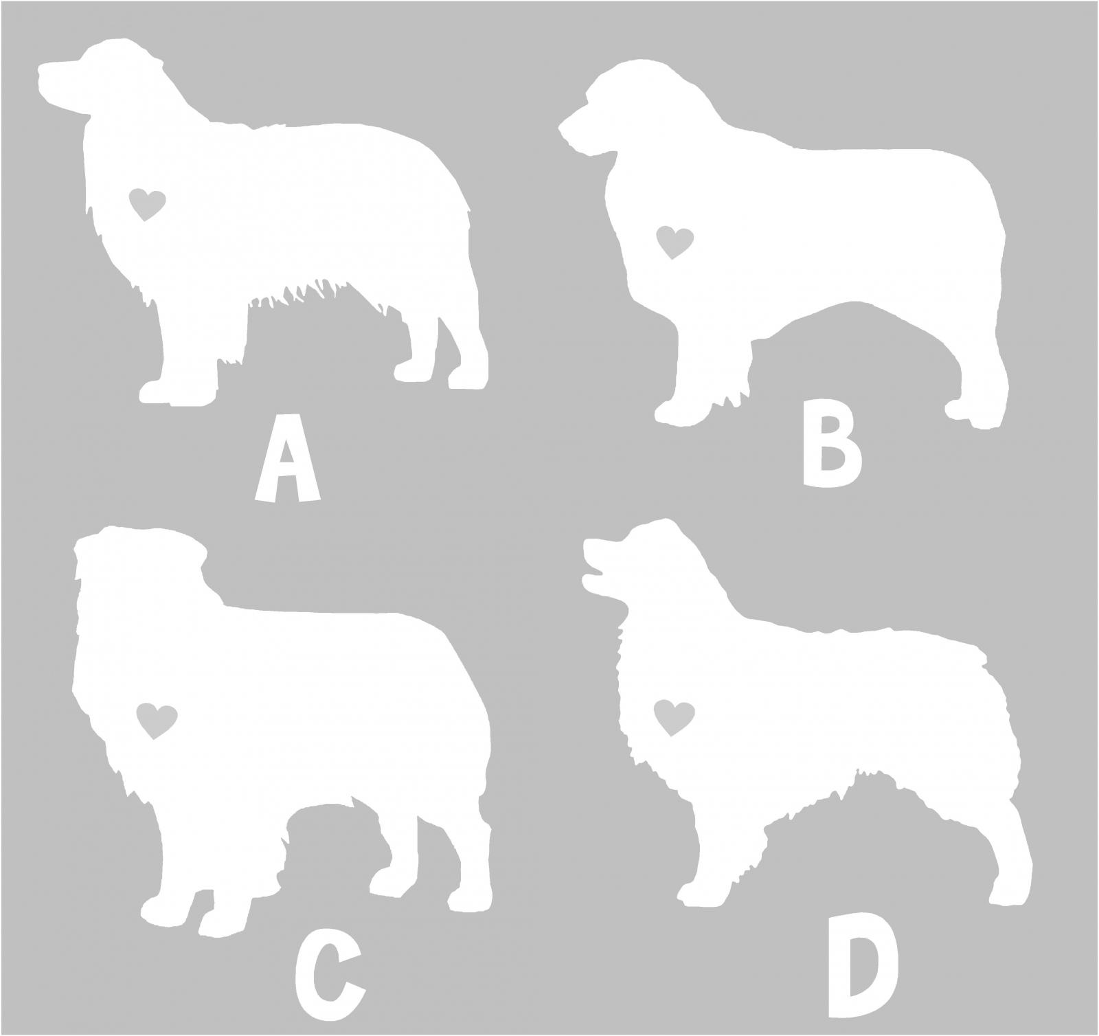 Australian Shepherd Silhouette Vinyl Sticker